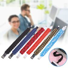 87B0322 Wristband Bracelet Micro USB Data Charging Cable Lead For Andriod Phones