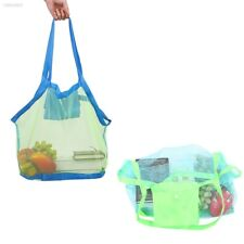 43EA418 Sand Away Carry Kids Mesh Bag Tote Beach Storage Shell Bags Large Size