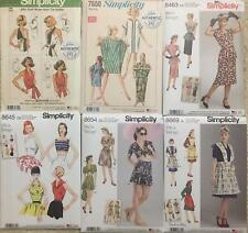 Vintage Retro 40s 50s 60s 70s New Simplicity Sewing Pattern Misses Size You Pick