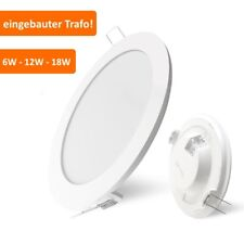 LED Foco empotrado Lámpara de techo pared 6w 12w 18w PANEL TRANSFORMADOR