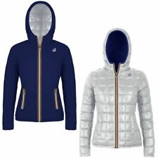 K-WAY LILY THERMO PLUS DOUBLE giacca reverse imbottita CORTA DONNA Cold 987lpvxr