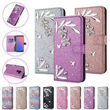 Fr Samsung Note 9 S9 S8 Bling Glitter Diamond Magnetic Wallet Leather Case Cover