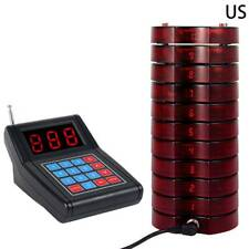 Restaurant Coaster Pagers Wireless Guest Waiter Calling Paging Queuing System MN