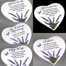 Thoughts Of You Memorial 5 Types Heart Lavender Gravestone Plaque UK L