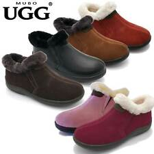 MUBO UGG Home Slipper Premium Sheepskin Shoes Antislip TPR Sole SN1006