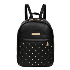 DESIGNER Casual Travel Bead Backpack for Teenage Girls PU Leather SchoolBag