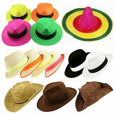 Stag Hen Party Fancy Dress Costume Trilby Fedora Gangster Sombrero Pirate Hats