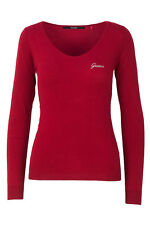 GR 103977 Rosso maglia donna guess ines basic sweater w74r01 z1oi0 guess - magli