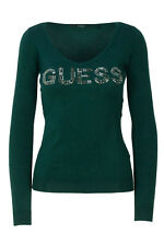 GR 103979 Verde maglia donna guess ines basic sweater logo w74r80 z1oi0 guess -