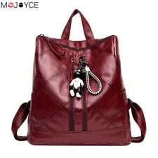 Retro Zipper Women Plaid PU Leather Travel Backpack for Teenager Girls Feamle