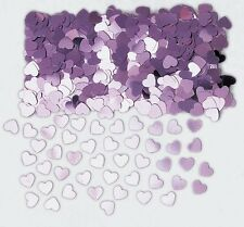 Sparkle Hearts Pale Pink Wedding Table Confetti Foiletti Decoration 14-84g