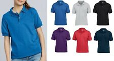 2 Pack Gildan Kids Short Sleeve School Wear Uniform Childrens Plain Polo Shirt