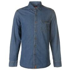 PR 119401   PIERRE CARDIN CAMICIA DENIM UOMO BLUE WASH