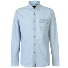 PR 119403   PIERRE CARDIN CAMICIA DENIM UOMO LIGHT BLUE WASH