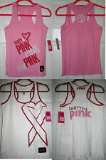 """ZUMBA RACERBACK TOPS - WHITE or PINK - """"PARTY IN PINK"""" - S or M -  BNWT"""
