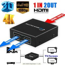 1×2 HDMI Splitter v1.4D 4K 3D 1080p One Input to Two Output Top 2967