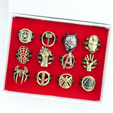 Marvel Series Superhero Finger Ring Metal Hollow Cosplay Props Jewelry Fans Gift