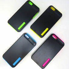 Multi Color Hard Plastic and Silicon Layer  Cover Case for Apple iPhone 5 5S