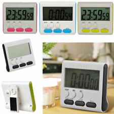 MAGNETIC DIGITAL LCD KITCHEN TIMER COUNT UP DOWN EGG COOKING FRIDGE BEEP