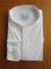 1930s 1940s Vintage Style Collarless White Shirt | 100% Cotton | Peaky Blinders
