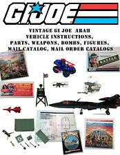 GI JOE ARAH & RAH Vehicle Instructions Parts, Weapons, Bombs, Mail Catalogs