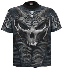 Spiral Skull Armour, Allover T-Shirt Black|Skulls|Blood|Horror|Fashion