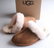 UGG Women's Chestnut Brown Suede Scuffette II Slippers size 7 Eur 38 New in Box