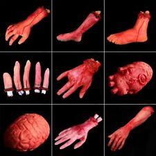 Halloween Horror Props Lifesize Bloody Hand Haunted House Party Scary Decor New