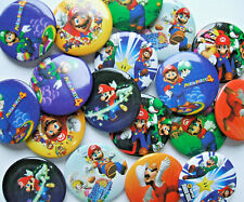 BADGES (F) - 30mm metal round pin, Brooch - COMPUTER GAME CHARACTERS - Party Bag