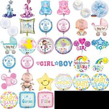 BABY SHOWER BALLOONS FOIL, PARTY, CELEBRATION, NEW BABY, GIRL, BOY, PINK, BLUE