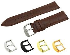 Brown Leather Croco Strap/Band fit Raymond Weil Watch Buckle 18 19 20 21 22mm