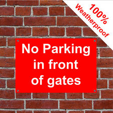 No Parking en frente de Gates Letrero 5031