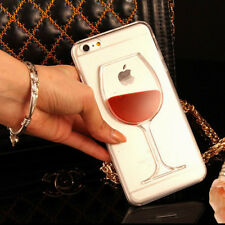 COQUE DE TELEPHONE  POUR IPHONE  RIGIDE  VERRE DE VIN IPHONE  6P - 7 - 7P - 8P