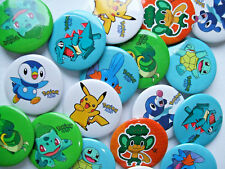 BADGES (A )- 30mm metal round pin, Brooch- COMPUTER GAME CHARACTERS - Party Bags