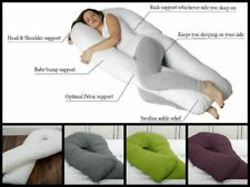 New 12 Ft Comfort U Pillowcase Full Body Back Support Maternity Pregnancy