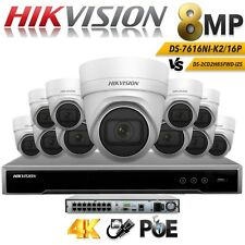 Hikvision IP Camera 8MP CCTV Security System NVR LAN CABLE Outdoor Surveillance