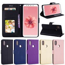 PU Leather Flip Case Wallet Cover For Xiaomi Mi 8 6X/A2 Redmi 5 6 S2 Note 5 Pro