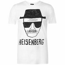 MENS WHTE BREAKING BAD HEISENBERG WALTER WHITE SHORT SLEEVE TEE SHIRT T-SHIRT
