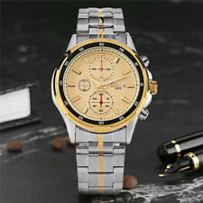 Casual Silver Stainless Steel Strap Analog Quartz Wrist Watch for Men Jewelry