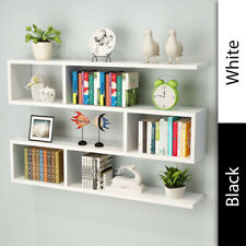 Wall Mounted White Wine Rack Storage Bottle Glass Holder Bar Accessory Shelving