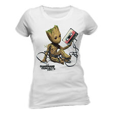 Official Guardians Of The Galaxy Vol. 2 Groot And Tape T Shirt XXL Ladies