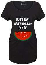 Maternity T shirts Pregnancy Shirts Top Tunic Outfit Don't Eat Watermelon Seeds