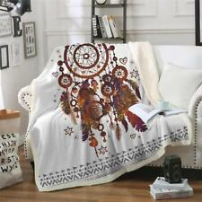 Bedding Outlet  Plush Throw Blanket Hipster Blanket Couch Feathers Printed Soft