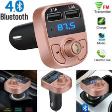 Wireless BT V4.0 Handsfree Car Kit FM Transmitter MP3 Player Dual USB Charger