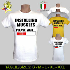 T-SHIRT INSTALLING MUSCLES BODYBUILDING ARNOLD PALESTRA FUNNY UOMO DONNA BAMBINO