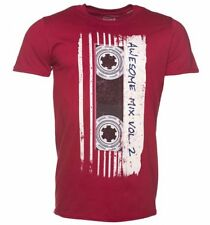 Official Men's Red Marvel Comics Guardians Of The Galaxy Mix Tape Vol 2 T-Shirt