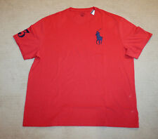 NEW Polo Ralph Lauren Big and Tall Big Pony Classic Fit Red T Shirt 1XB