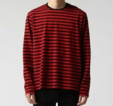 Striped T-shirt Men Women Loose Oversize Extra Long Sleeve Spandex Broadcloth