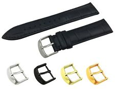 Black Genuine Leather Croco Strap Band fit TISSOT Watch Buckle 18 19 20 21 22mm