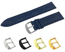 Navy Genuine Leather Croco Strap/Band fit TISSOT Watch Buckle 18 19 20 21 22mm